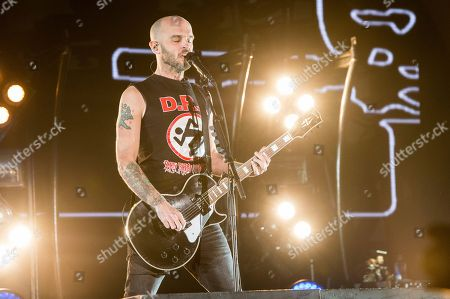 Zach Blair of Rise Against performs at the 2017 KROQ Almost Acoustic Christmas at The Forum, in Inglewood, Calif