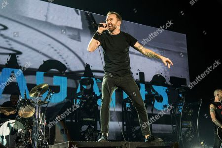 Tim McIlrath of Rise Against performs at the 2017 KROQ Almost Acoustic Christmas at The Forum, in Inglewood, Calif