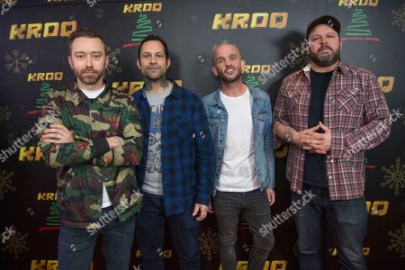Tim McIlrath, Joe Principe, Zach Blair, Brandon Barnes. Tim McIlrath, from left, Joe Principe, Zach Blair and Brandon Barnes of Rise Against pose at the 2017 KROQ Almost Acoustic Christmas at The Forum, in Inglewood, Calif