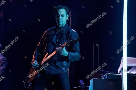 Stock Picture of Dean Fertita of Queens of the Stone Age performs at the 2017 KROQ Almost Acoustic Christmas at The Forum, in Inglewood, Calif