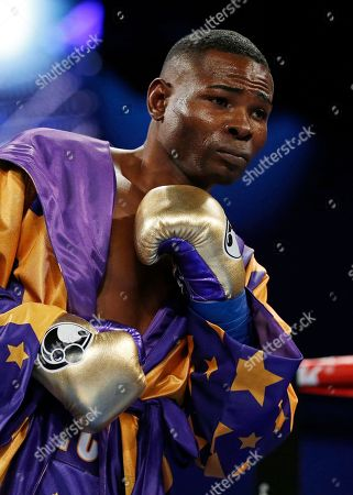 Guillermo Rigondeaux prepares to take on Vasyl Lomachenko, of Ukraine, in their WBO junior lightweight title boxing match, in New York. Lomachenko won the bout