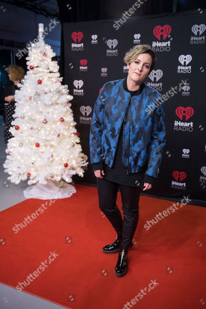 Ria Mae poses for a photo during the 2017 iHeartRadio Jingle Ball North at the Air Canada Centre, in Toronto