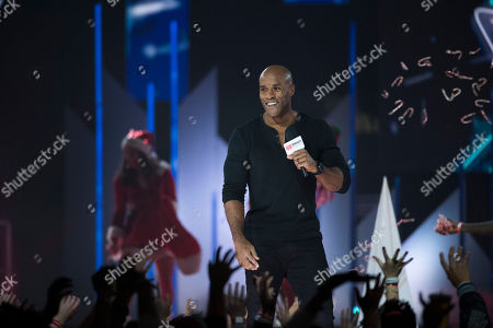 LaMonica Garrett on stage during the 2017 iHeartRadio Jingle Ball North at the Air Canada Centre, in Toronto