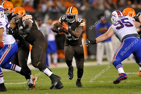 Cleveland Browns running back Willis McGahee (26) during an NFL football game against the Buffalo Bills on in Cleveland. The Browns won 37-24