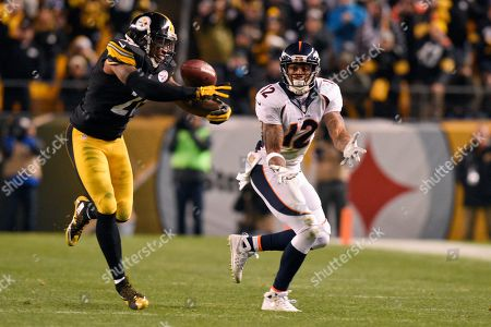 Robert Golden, Andre Caldwell. Pittsburgh Steelers strong safety Robert Golden (21) breaks up a pass intended for Denver Broncos wide receiver Andre Caldwell (12) during the second half of an NFL football game in Pittsburgh, . The Steelers won 34-27