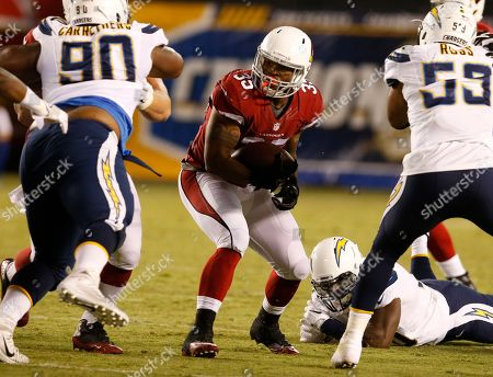 Arizona Cardinals running back Richard Crawford (35) during a preseason NFL football game against the San Diego Chargers, in San Diego