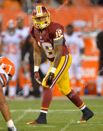 Washington Redskins wide receiver Reggie Bell lines up during an NFL preseason football game against the Cleveland Browns, in Cleveland. Washington won 20-17