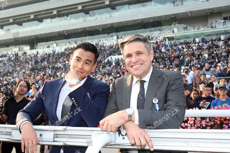 , Sha Tin, Hong Kong, China, Portrait of actor Eddie Peng (left) and Juan-Carlos Capelli.