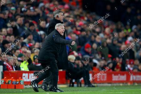 Everton assistant manager Sammy Lee and manager manager Sam Allardyce