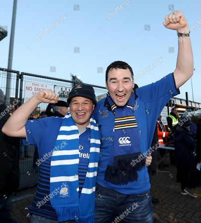 Exeter Chiefs vs Leinster . Leinster fans Brian Bannigan and Conor Dwyer from Dublin