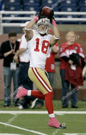 San Francisco 49ers' wide receiver Brett Swain makes a catch before an NFL football game against the Detroit Lions in Detroit