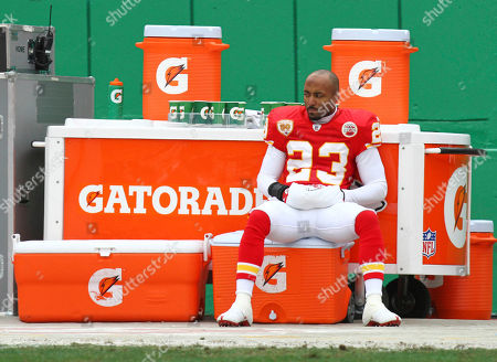 Kansas City Chiefs cornerback Mike Richardson during the first quarter of an NFL football game in Kansas City, Mo