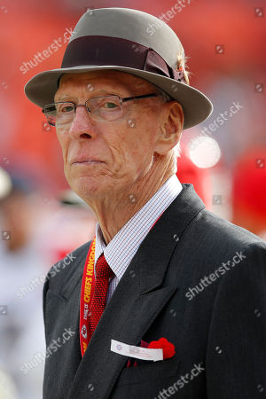Former Kansas City Chiefs general manager Jack Steadman prior to an NFL football game against the San Diego Chargers, in Kansas City, Mo