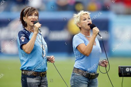 Pam Tillis, Lorrie Morgan. Pam Tillis, left, and Lorrie Morgan perform the national anthem before an NFL football game between the Tennessee Titans and the Kansas City Chiefs, in Nashville, Tenn