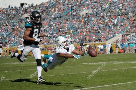 Stock Image of Brent Grimes, Cecil Shorts. Miami Dolphins cornerback Brent Grimes (21) dives for a pass intended for Jacksonville Jaguars wide receiver Cecil Shorts (84) during the second half an NFL football game in Jacksonville, Fla., . The pass fell incomplete