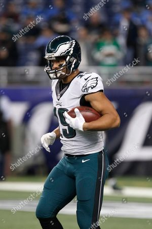 Philadelphia Eagles wide receiver Riley Cooper (14) during pre-game of an NFL football game against the Detroit Lions, in Detroit