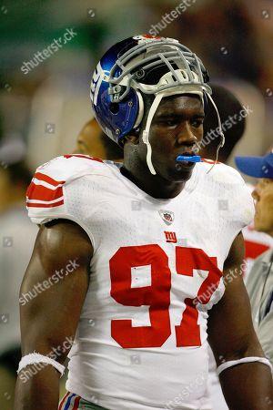 New York Giants linebacker Clint Sintim during a preseason NFL football game, in Chicago