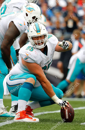 Miami Dolphins center Anthony Steen during a NFL football game against the New England Patriots at Gillette Stadium in Foxborough, Mass
