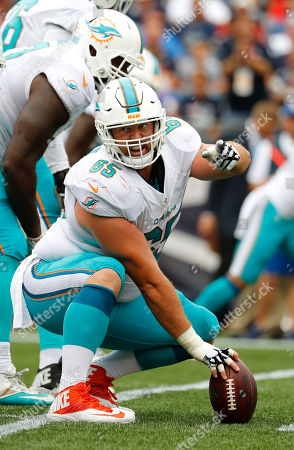 Stock Picture of Miami Dolphins center Anthony Steen during a NFL football game against the New England Patriots at Gillette Stadium in Foxborough, Mass