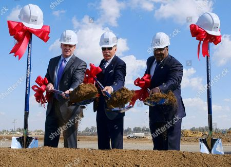 Roger Goodell, Stan Kroenke, James T. Butts Jr. NFL Commissioner Roger Goodell, left joins Los Angeles Rams owner Stan Kroenke, center and Inglewood Mayor James T. Butts Jr., right, during the groundbreaking for the team's new stadium and entertainment district in Inglewood, Calif. on