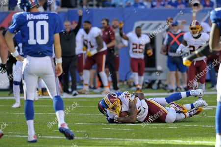 Editorial picture of Redskins Giants Football, East Rutherford, USA - 25 Sep 2016