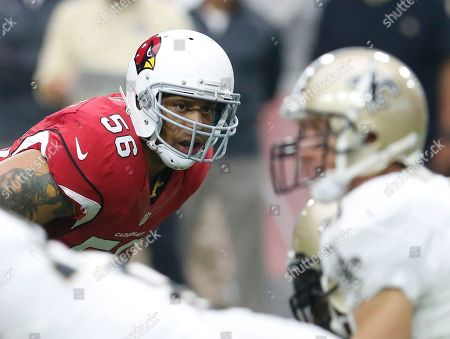 Arizona Cardinals linebacker LaMarr Woodley (56) during an NFL football game against the New Orleans Saints, in Glendale, Ariz