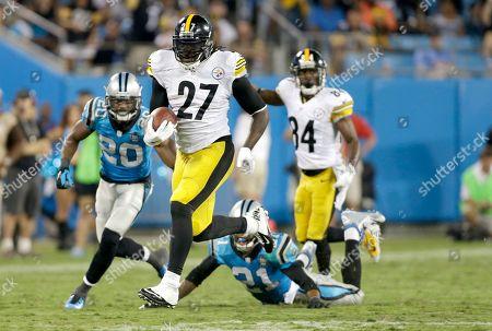 LeGarrette Blount, Antoine Cason, Thomas DeCoud. Pittsburgh Steelers' LeGarrette Blount (27) leaves both Carolina Panthers' Antoine Cason (20) and Thomas DeCoud (21) during the second half an NFL football game in Charlotte, N.C., . The Steelers won 37-19