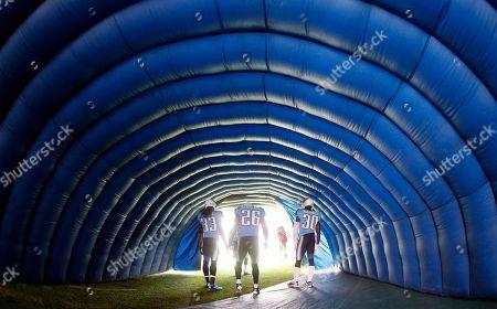 Michael Griffin, Jordan Babineaux, Jason McCourty. Tennessee Titans players Michael Griffin (33), Jordan Babineaux (26) and Jason McCourty (30) wait to be introduced before an NFL football game against the Houston Texans, in Nashville, Tenn