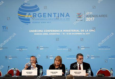 Keith Rockwell, Susana Malcorra and Roberto Azevedo