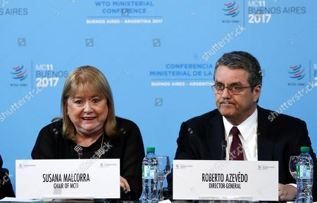 Stock Picture of Susana Malcorra and Roberto Azevedo