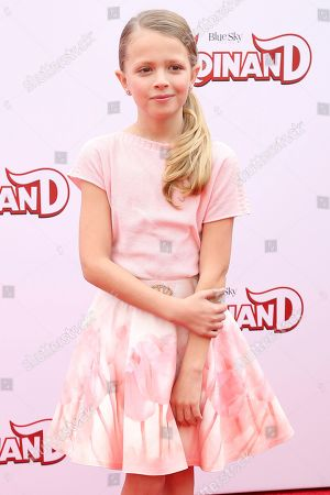 """Giselle Eisenberg arrives at the LA Premiere of """"Ferdinand"""" at the 20th Century Fox Studio Lot, in Los Angeles"""