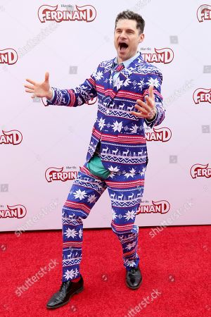 """Flula Borg arrives at the LA Premiere of """"Ferdinand"""" at the 20th Century Fox Studio Lot, in Los Angeles"""