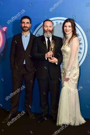 Stock Photo of Francis Lee wins Best Debut Screenwriter award ?Gods Own Country? presented by Brett Goldstein and Aisling Bea