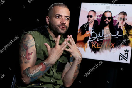 Nacho, Miguel Ignacio Mendoza Donatti. Venezuelan singer Miguel Ignacio Mendoza Donatti, better known as Nacho, poses for photos, in New York