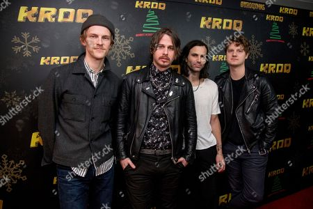Mark Pontius, Mark Foster, Sean Cimino, Isom Innis. Mark Pontius, from left, Mark Foster, Sean Cimino and Isom Innis of Foster The People pose at the 2017 KROQ Almost Acoustic Christmas at The Forum, in Inglewood, Calif