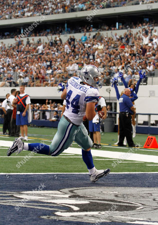 Dallas Cowboys running back Chris Gronkowski (44) during an NFL football game against the Chicago Bears in Arlington, Texas