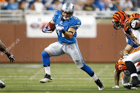 Detroit Lions running back Ian Johnson (41) runs the ball in an NFL football game against the Cincinnati Bengals in Detroit
