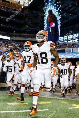 Editorial picture of Browns Lions Football, Detroit, USA - 9 Aug 2014