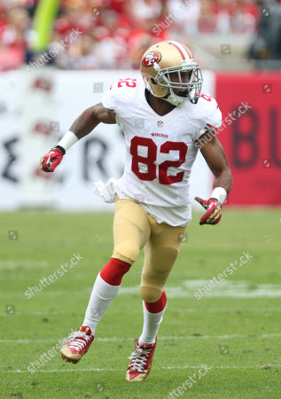 San Francisco 49ers Receiver Mario Manningham #82 in action during a game against the Tampa Bay Buccaneers at Raymond James Stadium in Tampa, Florida