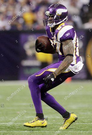 Minnesota Vikings wide receiver Bernard Berrian (87) is shown during the Vikings and Arizona Cardinals NFL football game in Minneapolis on