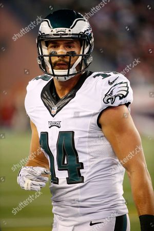 Philadelphia Eagles wide receiver Riley Cooper during a NFL football game against the New England Patriots at Gillette Stadium in Foxborough, Mass