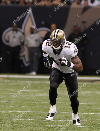 In the xx quarter of their NFL football game at the Louisiana Superdome in New Orleans, La., . (AP Photo/Bill Haber) New Orleans Saints wide receiver Marques Colston