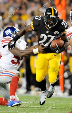 Jonathan Dwyer, Keith Rivers. Pittsburgh Steelers running back Jonathan Dwyer (27) tries to get away from New York Giants outside linebacker Keith Rivers (55) in the second quarter of an NFL preseason football game, in Pittsburgh