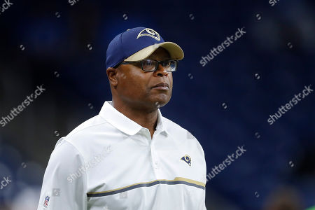 Los Angeles Rams defensive advisor Mike Singletary is shown before an NFL football game against the Detroit Lions in Detroit