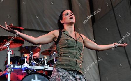 Editorial picture of Lacuna Coil in concert at Charter One Pavilion, Chicago, America - 16 May 2009
