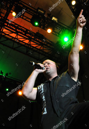 Editorial image of Disturbed in concert at Charter One Pavilion, Chicago, America - 16 May 2009