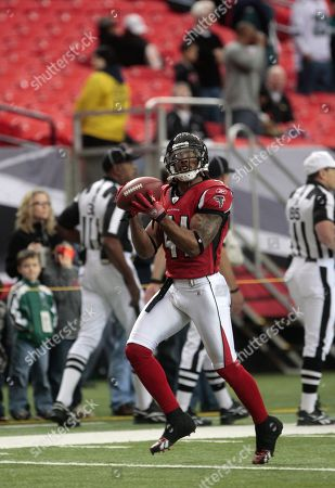 Atlanta Falcons safety Antoine Harris (41) is pictured prior to their NFL football game at the Georgia Dome in Atlanta