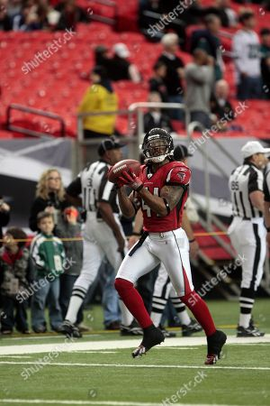 Atlanta Falcons safety Antoine Harris (41) is pictured prior to the start of their NFL football game at the Georgia Dome in Atlanta