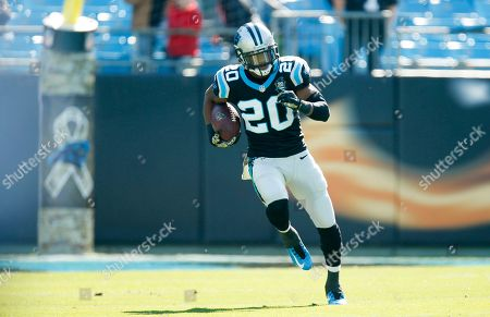 Stock Photo of Carolina Panthers cornerback Antoine Cason (20) warms up before an an NFL game against the Atlanta Falcons at the Bank of America Stadium in Charlotte, N.C. on