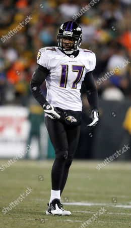 Baltimore Ravens' David Tyree is seen during the first half of an NFL football game against the Green Bay Packers, in Green Bay, Wis